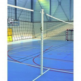 Schule Aluminium zentraler Volleyballpfosten ohne Hüllen Sporti France