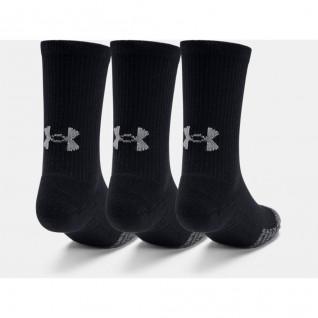 Packung mit 3 Paar Under Armour HeatGear® Crew® Junior Hi-Top Socken