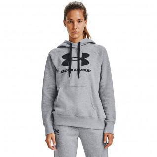 Under Armour Damen-Kapuzenpulli mit Rival-Fleece-Logo