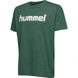Junior-Hummel-T-Shirt Baumwoll-Logo