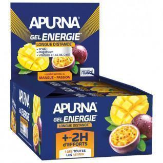 Packung mit 24 Apurna Energy Passion Mango Gels - 35g