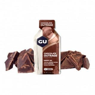 Partie von 24 Gels Gu Energieintensive Schokolade
