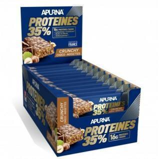 Packung mit 20 Riegeln Apurna HP Crunchy Chocolat-Noisette