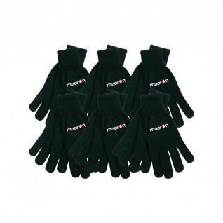 Satz von 6 Makron-Eisberg-Handschuhen